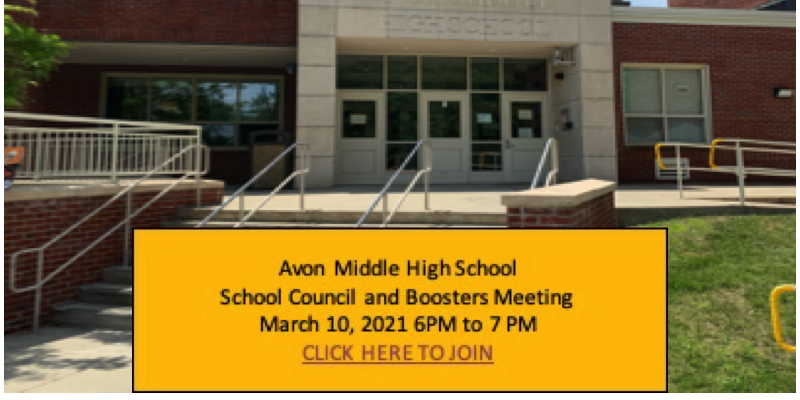 AMHS School Council and Boosters Meeting- Mar 10, 2021 at 6PM